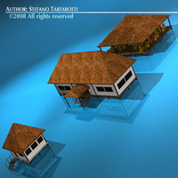 Resort buildings 3D Model
