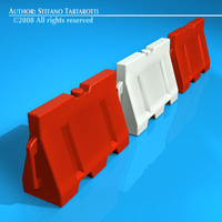 Road barrier plastic 3D Model