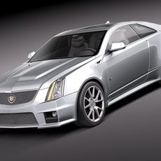 Cadillac CTS-V coupe 2011 3D Model
