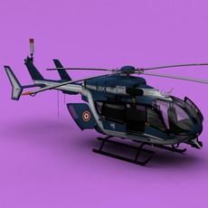 France Police Gendarmerie EC-145 3D Model