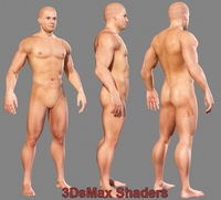 Realistic Muscled Male body (textured) 3D Model