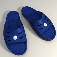 Detailed Sport Slippers  3D Model