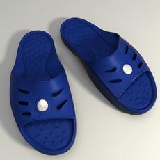 Detailed Sport Slippers  3D Model