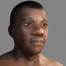 Black African male 3D Model
