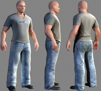 casual clothed man 3D Model