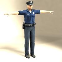 Police Officer Model 3D Model