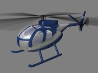 Hughes500 V3 3D Model