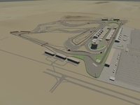 Bahrain International Circuit 3D Model