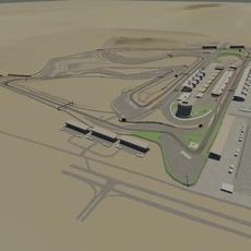 Bahrain International Circuit 3D Model