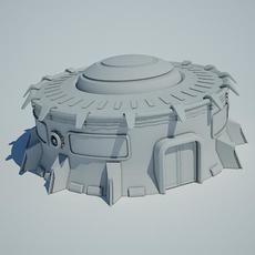 Scifi building10 3D Model