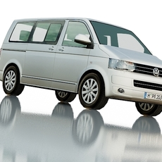 Volkswagen T5 Multivan Highline 2009 3D Model