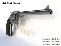 44 Magnum Redhawk hand gun 3D Model