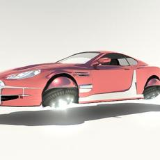 Aston Martin DB9 Hover Car 3D Model