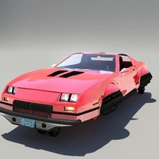 Chevrolet Camaro Iroc-HR (Hover Car) 3D Model