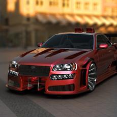 Nissan Skyline tuned 3D Model