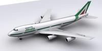 Boeing Alitalia 3D Model