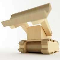 Toy Bulldozer 3D Model