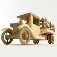 Toy Farm Truck 3D Model