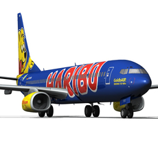 Boeing 737-800 GoldbAIR 3D Model