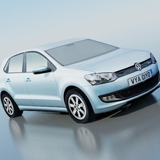 Volkswagen Polo BlueMotion 2010 3D Model