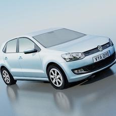 Volkswagen Polo BlueMotion 2010 3D Model