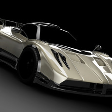 pagani zonda(highly detailed model) 3D Model