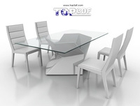Dinning chair and table 3D Model