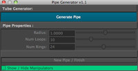 Pipe Generator 1.1.0 for Maya (maya script)
