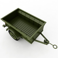 Willys T-3 Trailer 3D Model