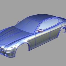 Maserati Quattroporte 2004 3D Model