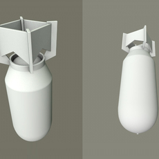 3 bombs - multiple resolutions poly 3D Model