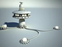 sci fi station 3D Model