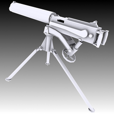 Vickers Machine Gun 3D Model