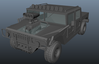 Army Hummer 3D Model