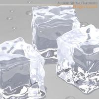 Ice cubes 3D Model