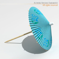 Cocktail umbrella 3D Model