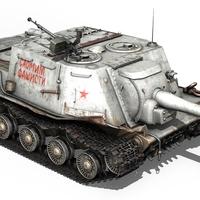 ISU-122 - Soviet self-propelled gun  3D Model