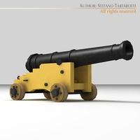 Frigate Gun 3D Model