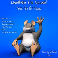 Free Mortimer the Mouse for Maya 1.0.0