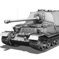 SD.KFZ 184 Panzerjaeger Tiger (P) - Elefant 3D Model