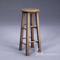 tall stool 3D Model