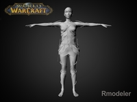 Blood Elf Elaya 3D Model