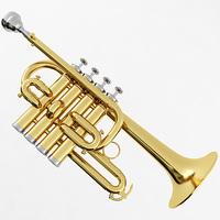 Piccolo Trumpet 3D Model