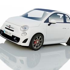 Fiat 500C Abarth 3D Model