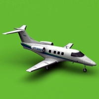 Embraer phenom 100 ABC TAXI AEREO 3D Model