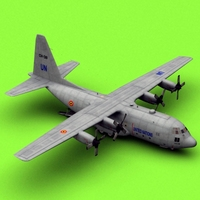 C-130 UN (Belgian Air Force) 3D Model