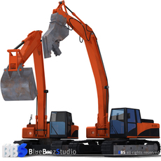 excavator collection 4 3D Model