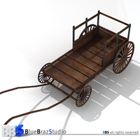 ancient chariot 2 3D Model