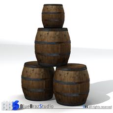 Barrels 3D Model