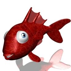 Goldfish cartoon 3D 3D Model